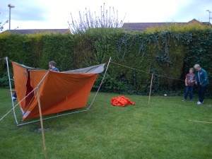 A canvas tent pitched upside down & Mayu0027s Monthly Report | 1st Ripley Scouts (Derbyshire)