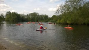 Canoeing during the camp at Walesby Forest.